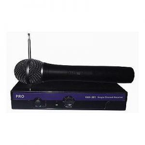 סט מיקרופון אלחוטי VHF-301