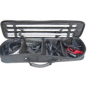 תאורת שטח עם דימר (שנאי) קיט 4 סרגלי לד מגנטיים עם מזוודה וערכת הפעלה לפי תמונות