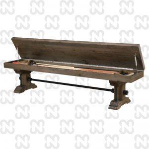 ספסל שולחן סנוקר גימור אלון חום