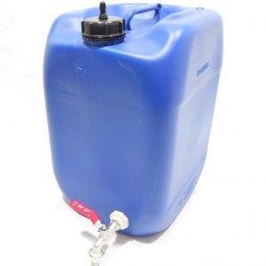 מיכל מים לשטח 11 ליטר צבע כחול עם ברז מתכת ונשם