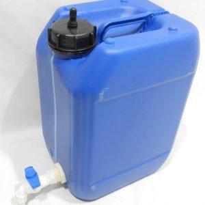 מיכל מים לשטח 18 ליטר צבע כחול עם ברז מתכת ונשם