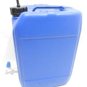 מיכל מים לשטח 20 ליטר צבע כחול עם ברז מתכת ונשם