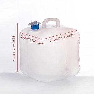 מיכל מים 15 ליטר עם ברז גמיש שקוף מתקפל